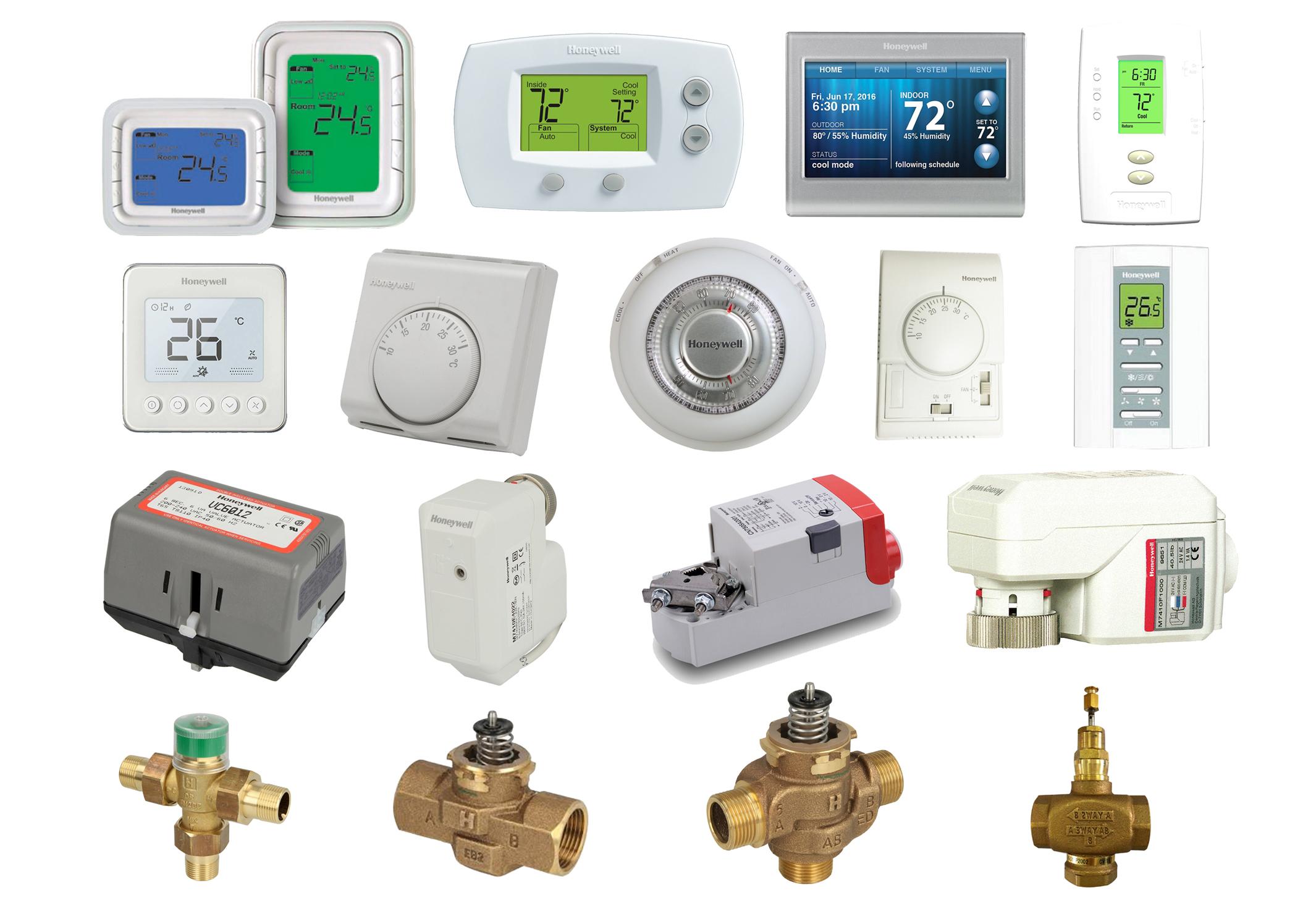 AC Thermostats Actuator Valves Honeywell