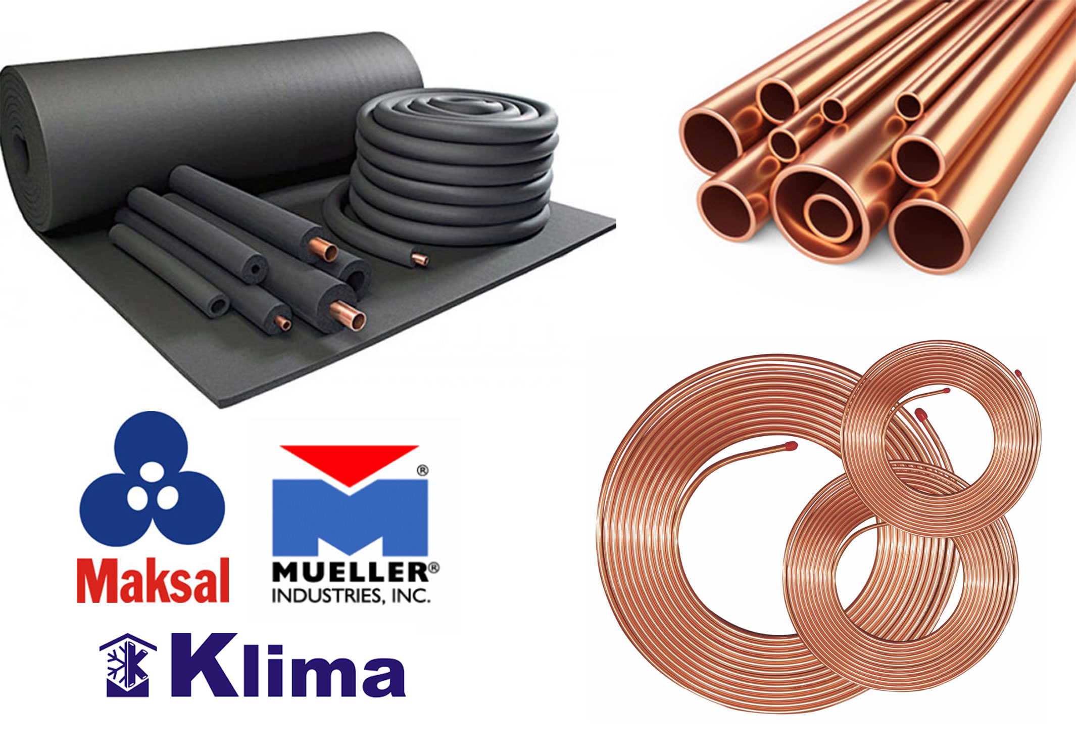 HVAC Copper Tubes Copper Pipe Coils & Rubber Insulation