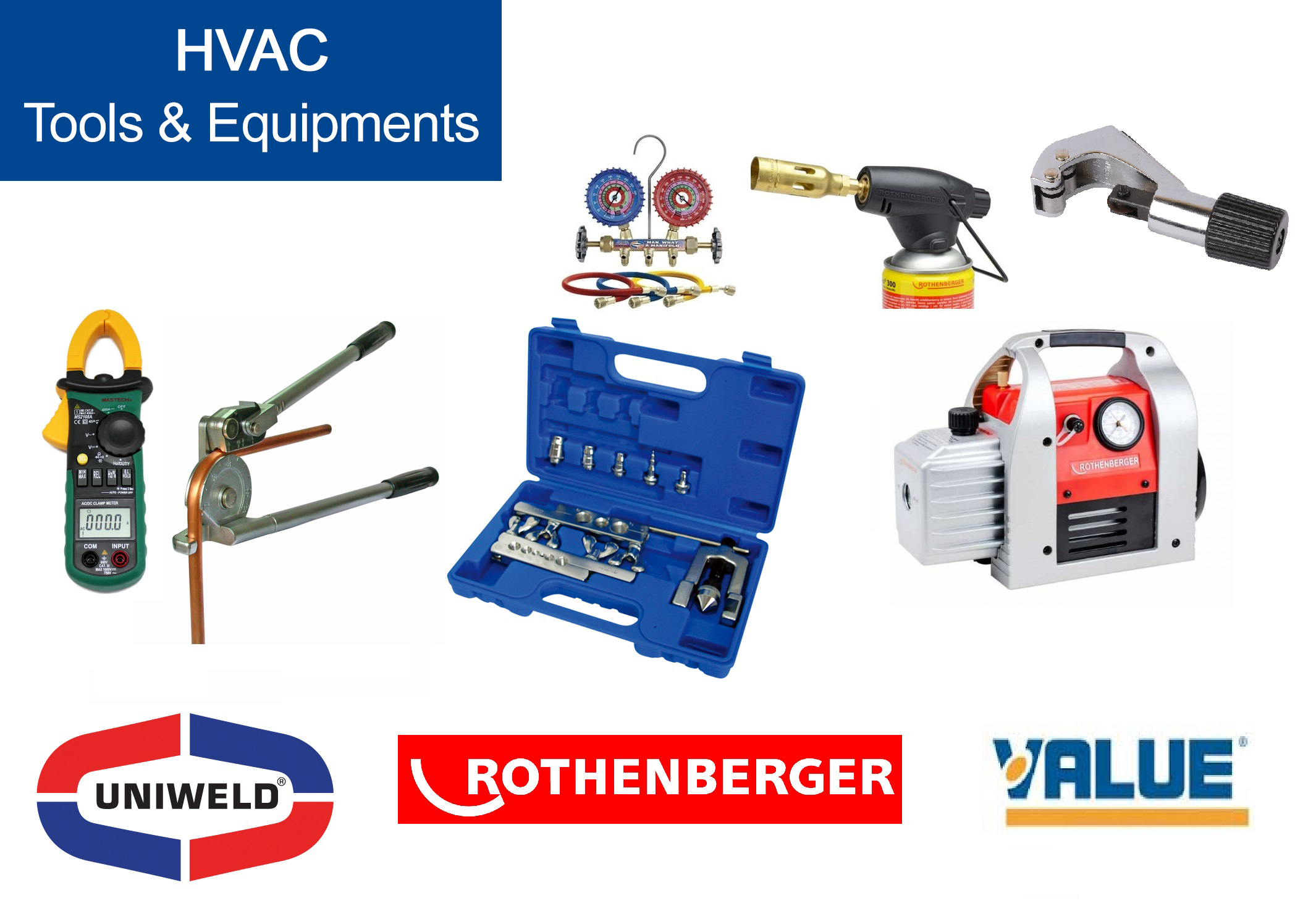 HVAC Tools & Equipments Supplier Dubai