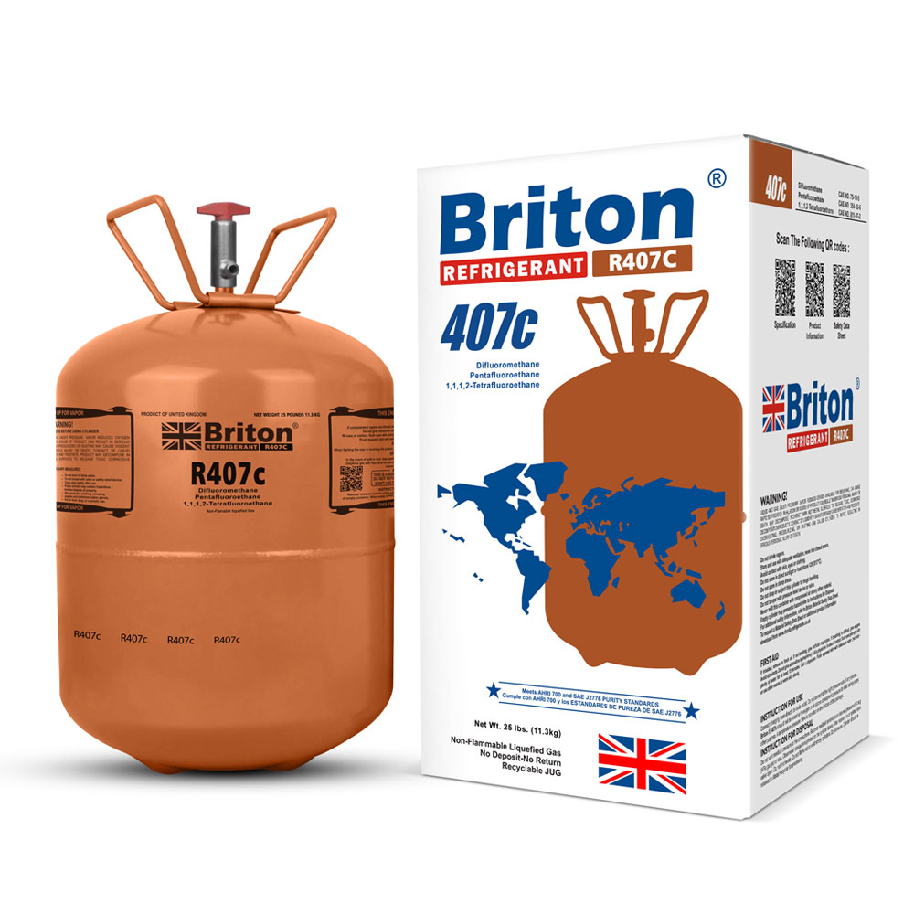 R407c Refrigerant Gas Briton