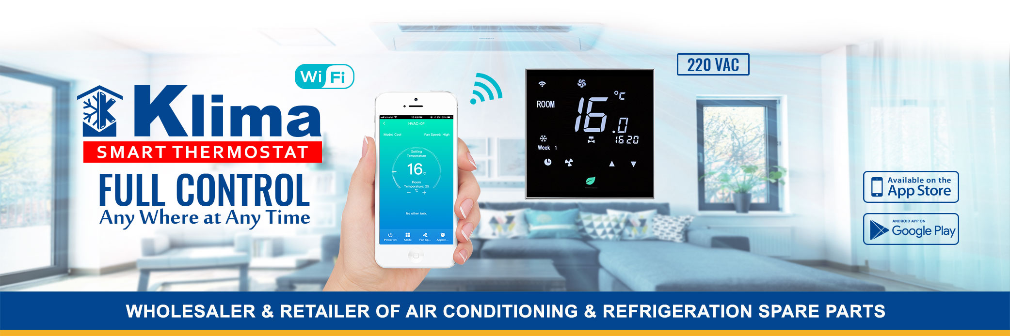 Klima 220v AC WiFi Thermostat Suppliers in Dubai