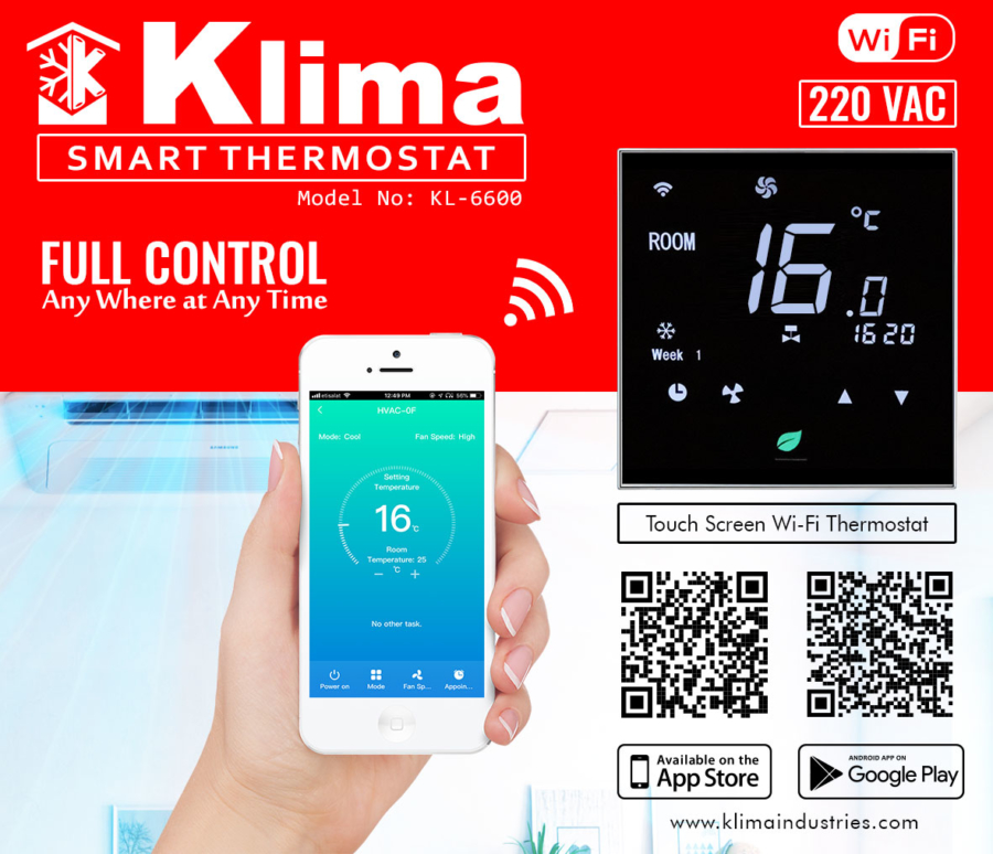 Klima Wi-Fi Thermostat Suppliers in Dubai