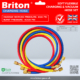 Briton Soft Flexible Refrigerant Charging & Vacuum Hose Set