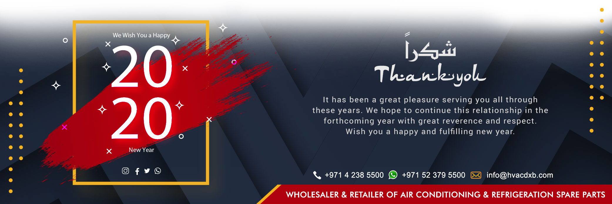 Happy New Year 2020 - AC Spare Parts Suppliers Dubai