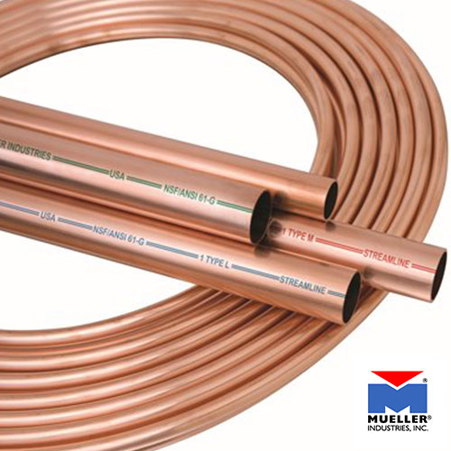 Mueller Temperature Control Copper Tubes Supplier in Dubai