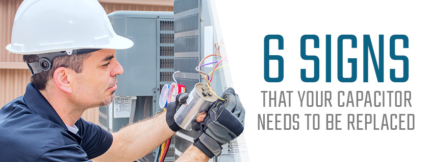 6 Signs That Your Capacitor Needs to Be Replaced. technician working on equipment