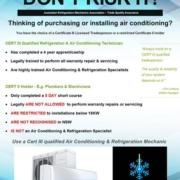 Australian Refrigeration Mechanics Association Flyer